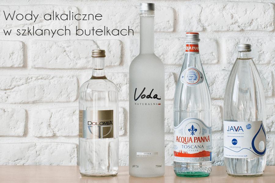 Butelki szklane wody mineralnej