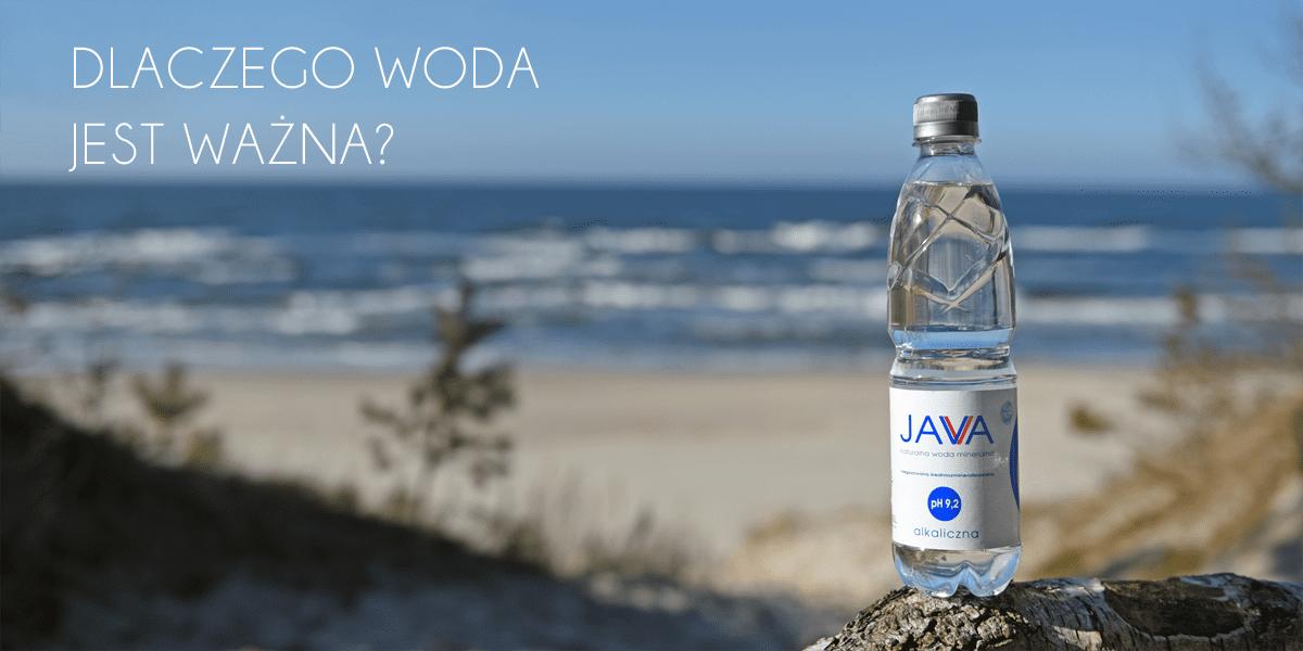 Butelka wody w tle plaża i morze