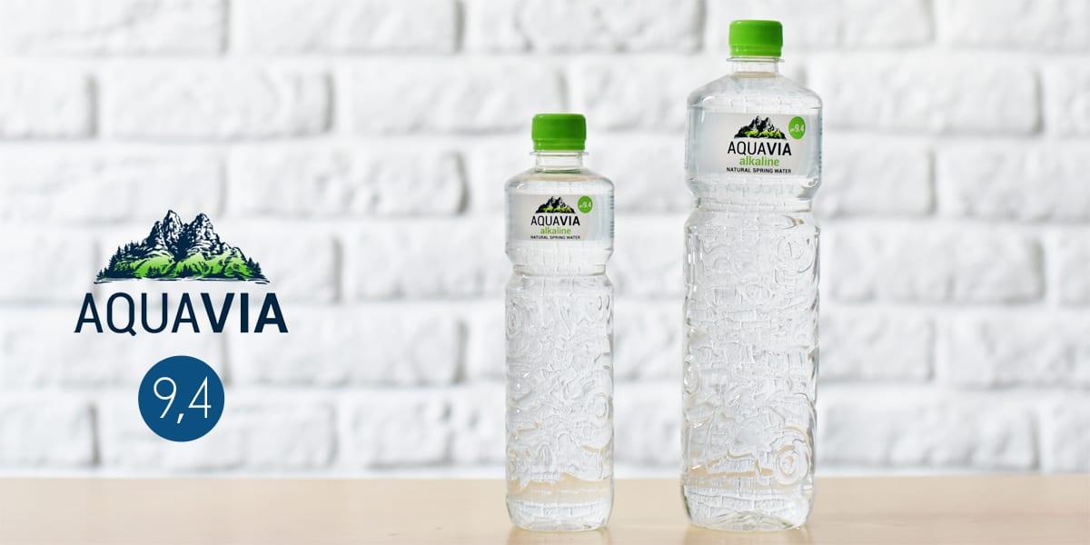 Butelki wody mineralnej AquaVia
