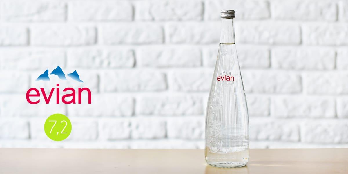 Butelka wody mineralnej Evian