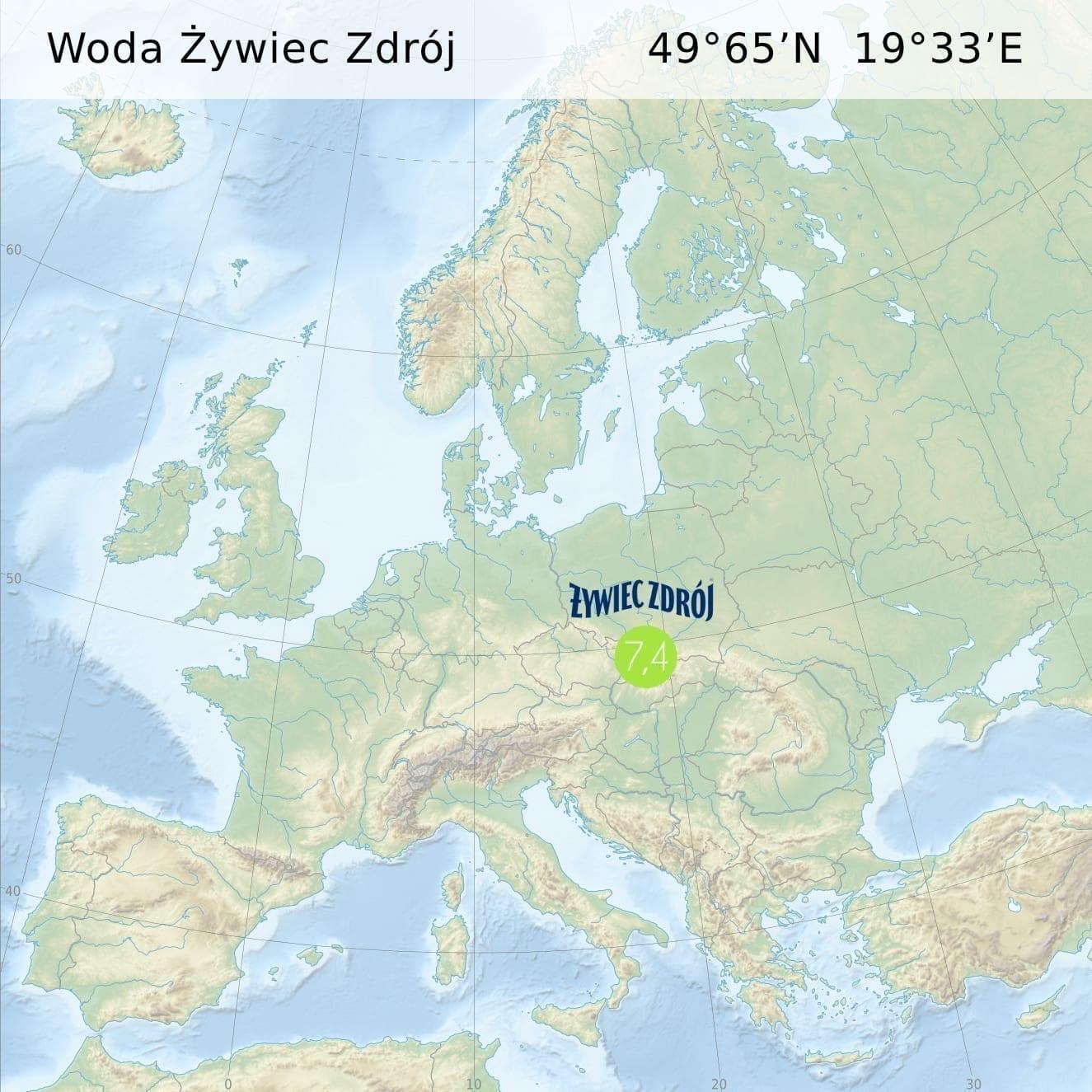 Woda Java źródło Humniska koło Brozowa, Polska
